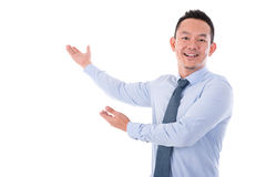 Businessman hands showing something Royalty Free Stock Images