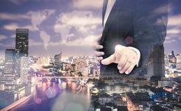Businessman hands sign Stock Photo