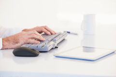 Businessman hands typing on keyboard Royalty Free Stock Photo