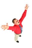 Businessman with hands up Royalty Free Stock Image