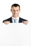 Businessman hands white paper copyspace Royalty Free Stock Photos