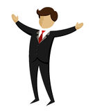 Businessman with hands wide open. Vector illustration of a businessman open his arms wide Royalty Free Stock Photos