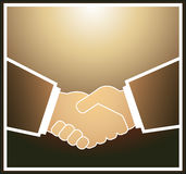 Businessman handshake. Light brown handshake of the business partners Stock Photo