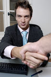 Businessman handshake Royalty Free Stock Photos