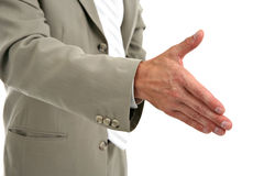 Businessman Handshake Closeup Stock Images
