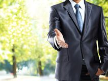 Businessman handshake gesture Royalty Free Stock Image