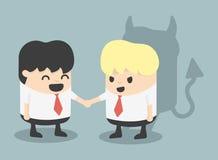 Businessman Handshake impostor royalty free illustration