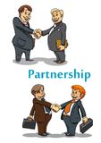 Businessman handshake and partnership Royalty Free Stock Photos