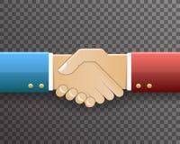 Businessman Handshake Partnership Symbol Transparent Background Design  Vector Illustration. Businessman Partnership Handshake Symbol Transparent Background Royalty Free Stock Images