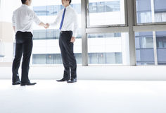 Businessman with a handshake Stock Photo