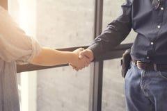businessman handshaking for business acquisiton concept Stock Images