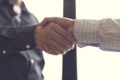 businessman handshaking for business acquisiton concept Stock Photo