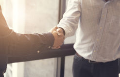 businessman handshaking for business acquisiton concept Royalty Free Stock Photos