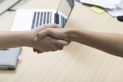 businessman handshaking for use as cooperation, acquisition conc Royalty Free Stock Images