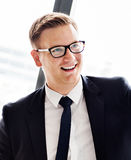 Businessman Handsome Smart Smiling Concept royalty free stock photography