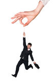Businessman hanging Stock Photo
