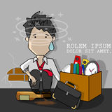 Businessman hangover from employed. Stock Image