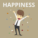 Businessman happiness.Vector Esp10 Royalty Free Stock Photography