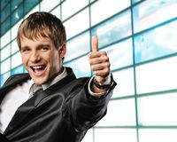 businessman happy Стоковое фото RF