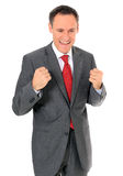 Businessman with happy expression Stock Photos
