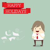 Businessman is happy at the holiday relax time after work hard, Stock Photo