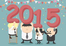 Businessman happy new year party Stock Image