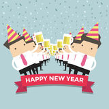 Businessman happy newyear party Royalty Free Stock Image