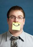 Businessman With Happy Note Royalty Free Stock Photography