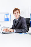 Businessman working in the office Stock Photography