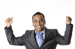 Businessman Happy after wining a deal Stock Image