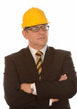 Businessman in hard hat Royalty Free Stock Images