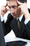 businessman hard thinking Στοκ φωτογραφία με δικαίωμα ελεύθερης χρήσης