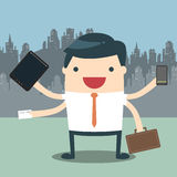Businessman hard work Stock Photography