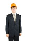 Businessman in hardhat Royalty Free Stock Images
