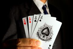 The businessman has all the aces in his hand Royalty Free Stock Photo