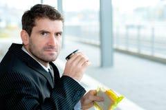 Businessman has a break Stock Images
