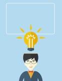 Businessman has a bright idea Stock Photos