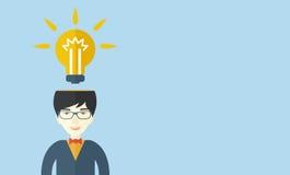 Businessman has a bright idea Royalty Free Stock Image