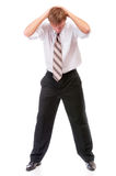 Businessman has clutched at head Royalty Free Stock Images