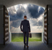 Businessman has found exit, concept Stock Photography
