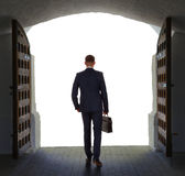 Businessman has found exit, concept Royalty Free Stock Photography