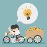 Businessman has an idea stock illustration