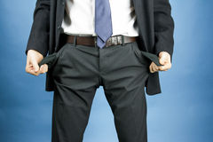 Businessman has lost money Stock Photography