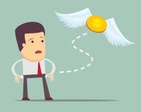 Businessman has no money vector illustration