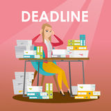 Businessman has a problem with a deadline. Stock Images