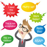 Businessman hassled stressed yelling Royalty Free Stock Images