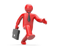 The businessman hastens for work Royalty Free Stock Photo