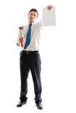 Businessman with hatchet Royalty Free Stock Images