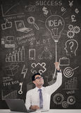 Businessman have got an idea Royalty Free Stock Images
