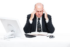 Businessman have a headache. Sad businessman have a headache stock images